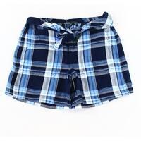 Lauren by Ralph Lauren Women's Plaid Belted Shorts