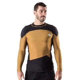 Fusion Fight Gear Star Trek TNG Long Sleeve Rashguard - Gold|https://ak1.ostkcdn.com/images/products/is/images/direct/8fe1540e7fa2147aa8f6b1ba3b98623db49ccb84/Fusion-Fight-Gear-Star-Trek-TNG-Long-Sleeve-Rashguard---Gold.jpg?_ostk_perf_=percv&impolicy=medium
