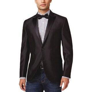 Kenneth Cole New York Black Patterned Formal Evening Jacket 44 Long 44L