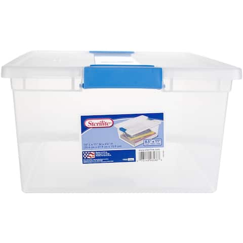 "Sterilite Deep Clip Storage Box-14""X11""X6.25"" Clear"