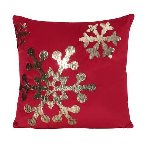 Bayou Glam Velvet Christmas Throw Pillow by Christopher Knight Home