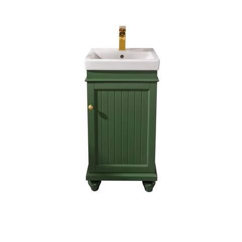 """Legion Furniture 18"""" Vogue Green Sink Vanity WLF9318-VG"""