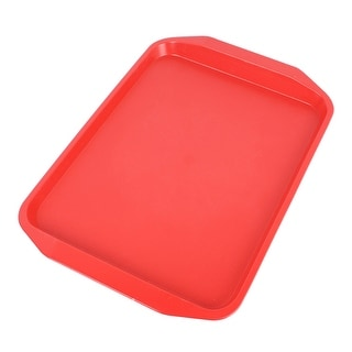 Plastic Rectangle Designed Dinner Food Court Serving Tray Red  sc 1 st  Overstock.com & Unique Bargains Plates For Less | Overstock