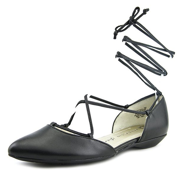 Anne Klein Ottilia Women Pointed Toe Leather Black Flats