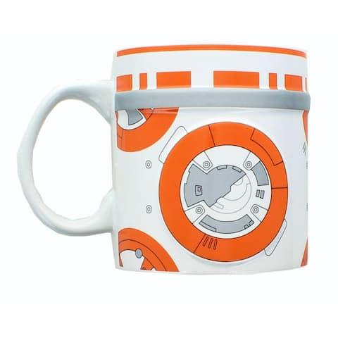 Star Wars 2D Relief BB-8 20oz Ceramic Coffee Mug - White