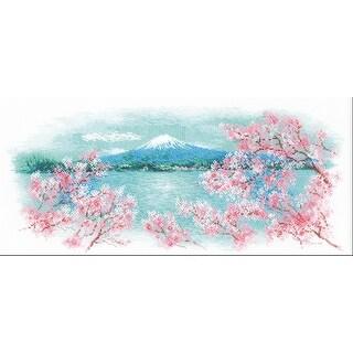 "Riolis Counted Cross Stitch Kit 21.75""X9.75""-Sakura Fuji (14 Count)"