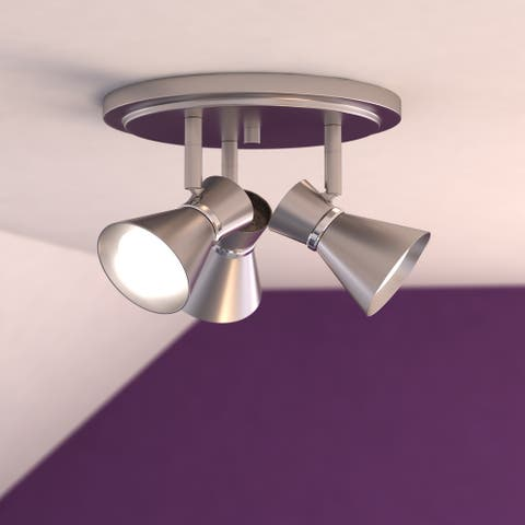 Alto 3 Light LED Brushed Nickel Adjustable Ceiling Spot Light - 11-in W x 7.25-in H x 11-in D