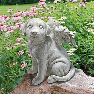 LARGE LOVING FRIEND MEMORIAL DOG ANGEL DESIGN TOSCANO dog statue