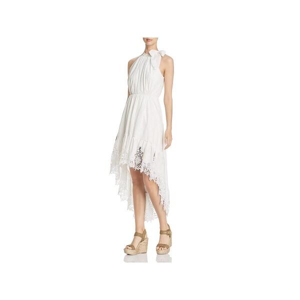 T Tahari Womens Vitala Maxi Dress Embroidered Floral Print