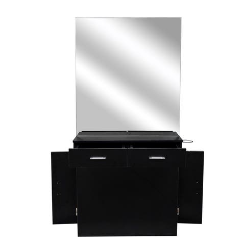 Wall Mount Beauty Salon Equipment Salon Cabinet with Mirror