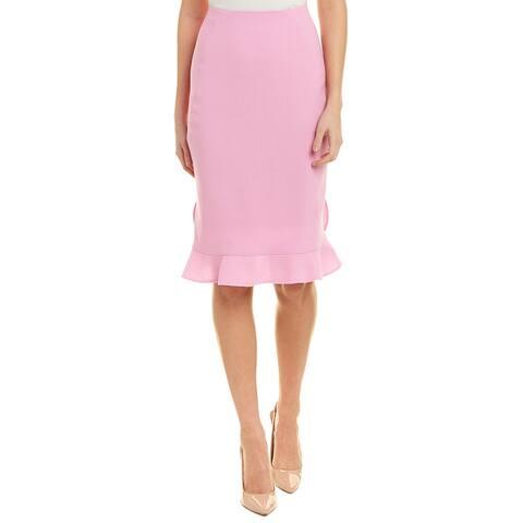 Oscar De La Renta Silk-Lined Wool Pencil Skirt