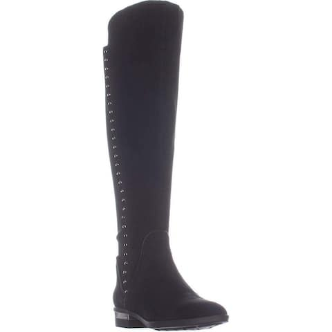 Vince Camuto Womens Pardonal Leather Almond Toe Knee High Riding Boots