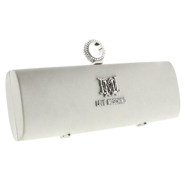 Moschino JC4225 0902 Silver Knuckle Clutch