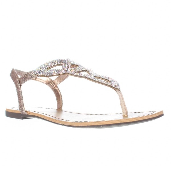 MG35 Swirlz Sparkle Flat Sandals, Blush