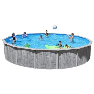 Tango Round Above Ground Swimming Pool Package 24 ft. x 52 in.