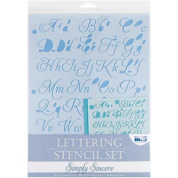 Lettering Stencil 4pc Sets-Simply Sincere