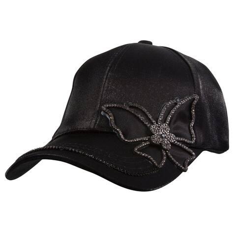Top Headwear Butterfly Stone Patch Fashion Cap
