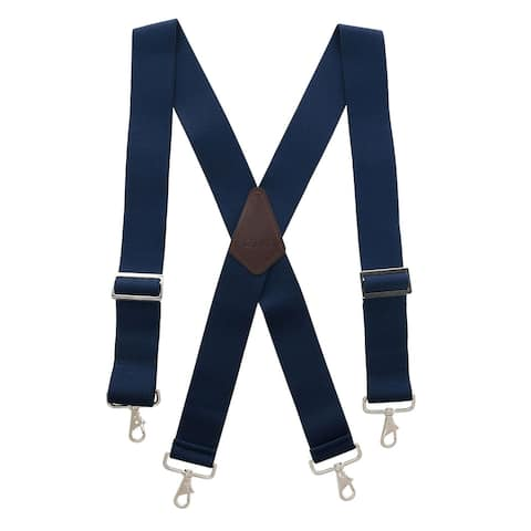 CTM® Men's Industrial Terry Logger Suspenders with Metal Swivel Hook Ends - one size
