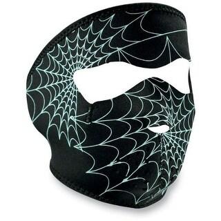ZANheadgear Neoprene Glow in the Dark Spiderweb Face Mask
