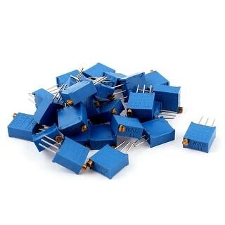 Unique Bargains 25Pcs Potentiometer Trimmer Trimpot Trim Pot Variable Resistor 3296W-202 2K Ohm