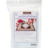 """June Tailor Quilt As You Go Inspirational Mug Mats Kit-Dog Days 8.5""""X10.5"""""""