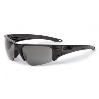 ESS Sunglasses Crowbar Black Subdued Logo With Clear and Smoke Gray Lens