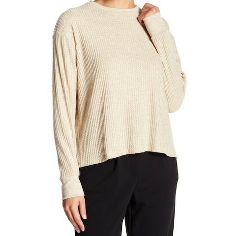 Project Social T Womens Sweater Waffle Knit Pullover