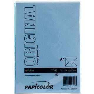 Sky Blue - Papicolor A6 Envelopes 6/Pkg