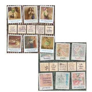 12 x 12 in. Poses and Reflections Gypsy Moments 2 Sided Cardstock