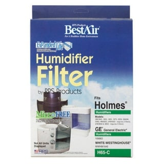 BestAir H65-C Circular Humidifier Wick Filter, White