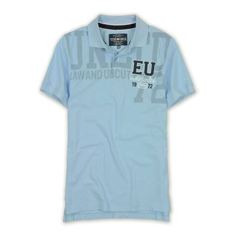 Ecko Unltd. Mens Raw And Uncut Eu 1972 Logo Rugby Polo Shirt