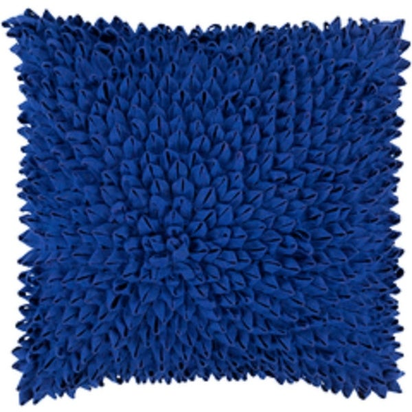"20"" Speared Fabulously International Klein Blue Decorative Throw Pillow - Down Filler"