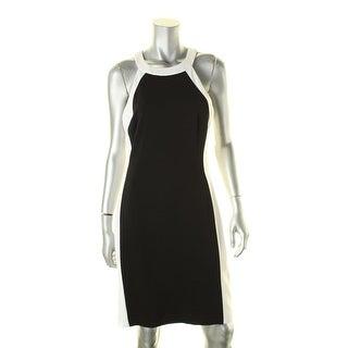 Lauren Ralph Lauren Womens Casual Dress Colorblock Halter