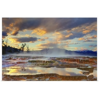 """""""Yellowstone National Park-Mammoth Hot Springs"""" Poster Print"""