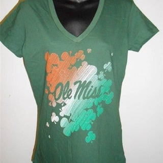 Ole Miss Rebels St Patty S Day Womens Size M Medium By Majestic Shirt