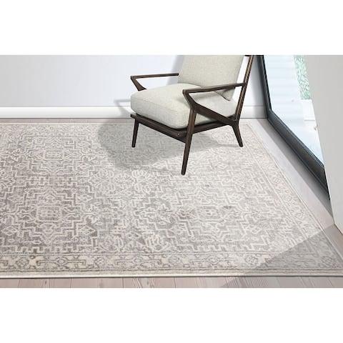 LoomBloom Persian Polypropylene Fini Traditional Oriental Area Rug Gray, Beige Color