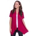 Simply Ravishing Women's Basic Short Sleeve Open Cardigan (Size: Small-5X) - Thumbnail 10