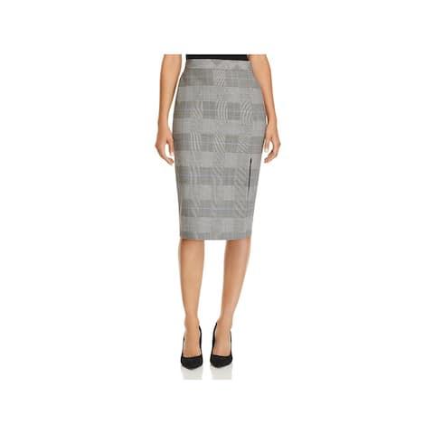 Theory Womens Pencil Skirt Office Wear Plaid - 00