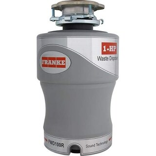 Franke FWD100R 1 HP Continuous Feed Waste Disposer with Flange and Stopper