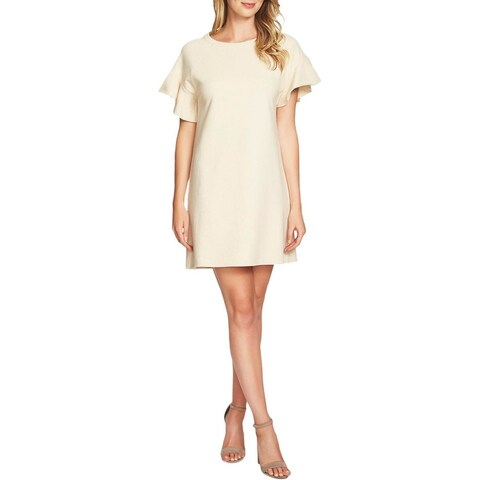 1.State Womens T-Shirt Dress Released Hem Ribbed Collar