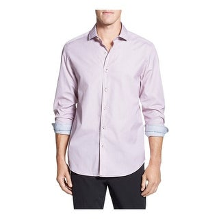 Tommy Bahama Island Modern Fit Digi Check Small S Antique Pink Long Sleeves