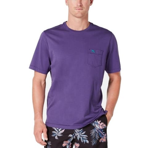 Tommy Bahama Mens T-Shirt Mulberry Purple Size 2XL Tee Skyline Crewneck