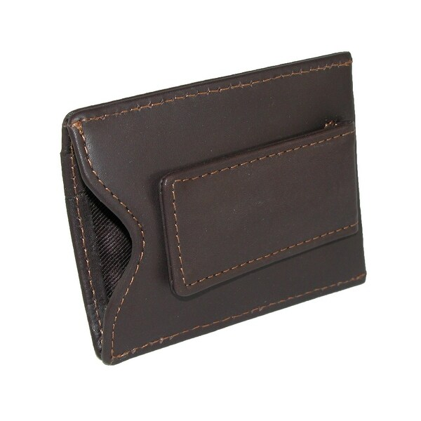329f314fcd54 DOPP Men's Leather Card Holder with Magnetic Money Clip Wallet - one