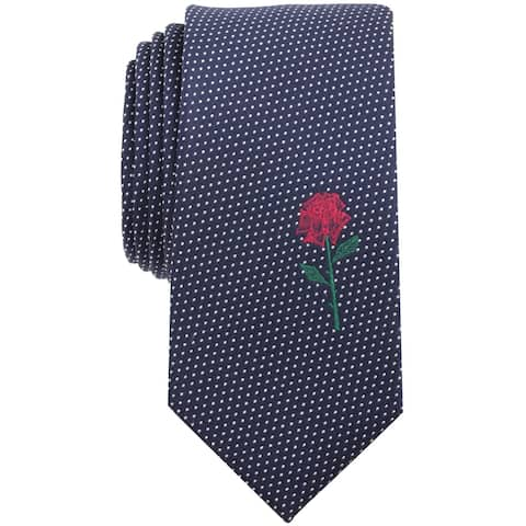 bar III Mens King Rose Self-tied Necktie, blue, One Size - One Size