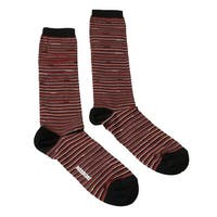 Missoni GM00CMD4589 0001 Red/Silver Striped Boot Socks - M