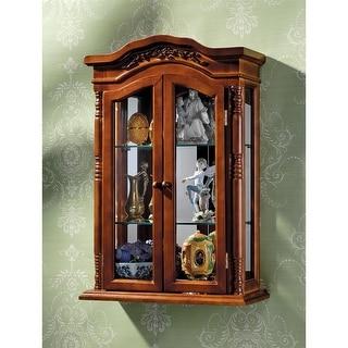 Design Toscano Beacon Hill Hardwood Wall Curio Cabinet - 18 x 7 x 27