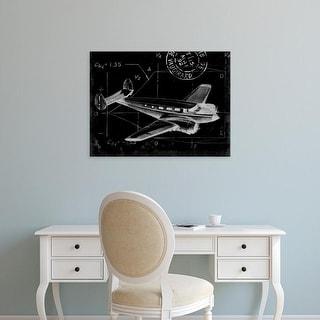 Easy Art Prints Ethan Harper's 'Flight Schematic IV' Premium Canvas Art
