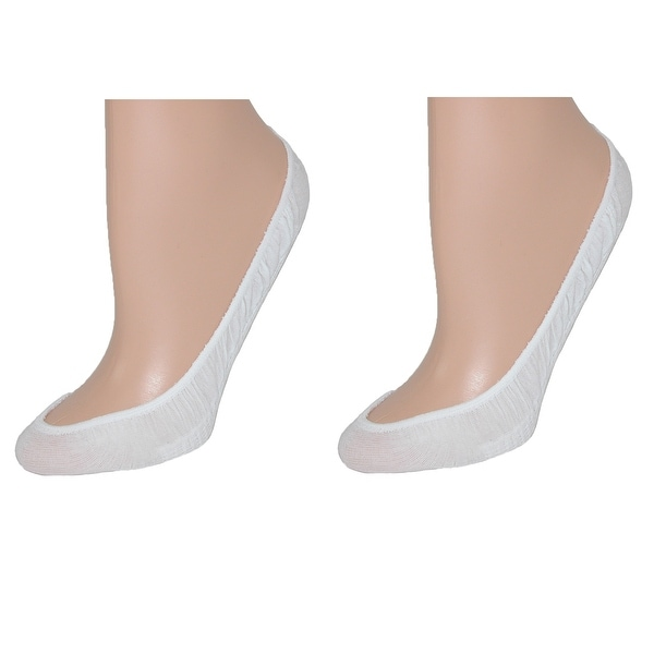 Leggs Women's Cotton Massaging Sock Liner (Pack of 2) - White - One size