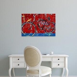 Easy Art Prints Daryl Thetford's 'Red Graffiti Bike' Premium Canvas Art