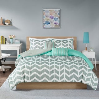 Link to Elle Chevron 5-piece Comforter Set by Intelligent Design Similar Items in Bed-in-a-Bag